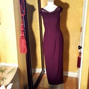 Dresses & Skirts - Long dress with flower embellished dress size 8